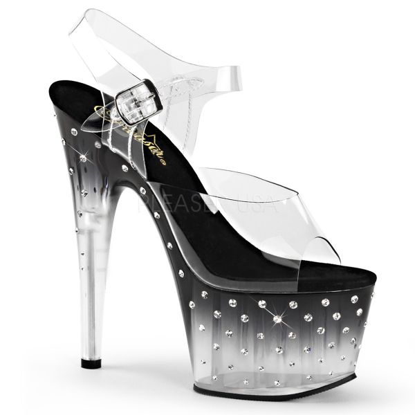 Sandalette mit schwarzem Farbverlauf und zahlreichen Strass-Steinen STARDUST-708T